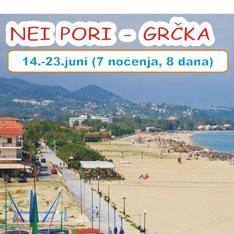 Ljetovanje NEI PORI (GRČKA) sa Jelić Tours-om