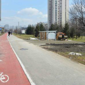 U naselju Otoka, na lokalitetu između Olimpijskog bazena i mosta gradi se odmorište za bicikliste.