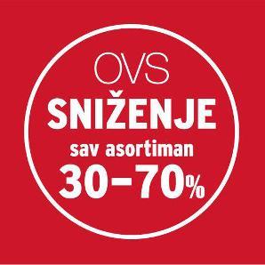 U toku je SNIŽENJE na sav asortiman -30%-70% u svim OVS trgovinama