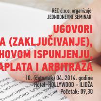 Seminar: Ugovori - nastajanje, realizacija i problemi u njihovom ispunjenju