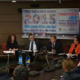 Javni doček Nove 2015. godine pod sloganom Sarajevska urnebesna noć