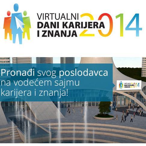 Počeo je najveći virtualni sajam zapošljavanja i edukacije u regionu Virtualni dani karijera i znanja koji u periodu od 15. do 22. oktobra 2014. godine možete posjetiti na web adresi www.dankarijera.com.