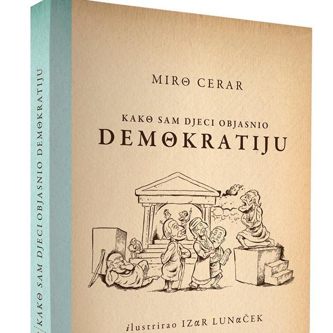 Knjiga Mire Cerara postupno, od osnovnih pojmova, do vrlo konkretnih oblika u svakodnevnom životu, objašnjava demokratiju kao oblik društvenog uređenja.