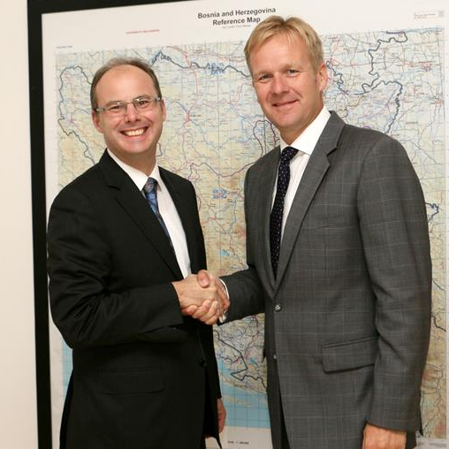 Head of Delegation/EU Special Representative, Ambassador Peter Sorensen, met Mr. Thomas Lubeck,  newly appointed Manager for Western Balkan countries at the International Finance Corporation on Monday 15 September, 2014 in Sarajevo.