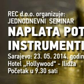 REC seminar: Naplata potraživanja s instrumentima obezbjeđenja