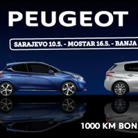 Peugeot road show 2014: Počinje lavovska turneja kroz sedam bh. gradova