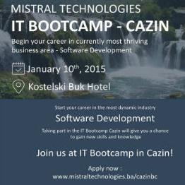 The Development Agency Cazin has gathered sponsors and partners for organizing the IT Bootcamp Cazin, which is the first such event in the region and the first step in defining Cazin Municipality.