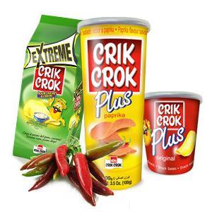 Novo u ponudi tvrtke Džajić-Commerc - Crik Crok čipsevi u tubi!
