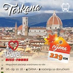 Iskoristite priliku da upoznate prelijepu Toscanu sa Biss Tours-om