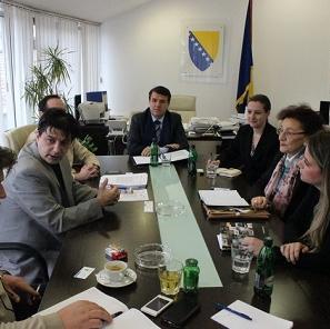 Predstavnici Općine Goražde, Federalnog zavoda za zapošljavanje, USAID Sida GOLD projekta i kompanije BINGO održali jučer sastanak.