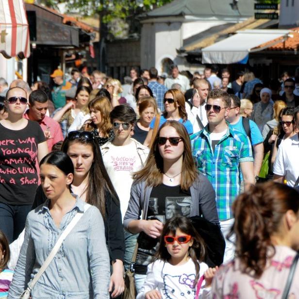 Kanton Sarajevo je u martu ove godine posjetilo 19.696 turista, što je za 25,1 posto više u odnosu na mart prošle godine.