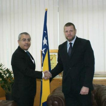 Ministar komunikacija i prometa BiH Ismir Jusko sastao se jučer s predsjednikom Privremenog vijeća Eurocontrol-a.