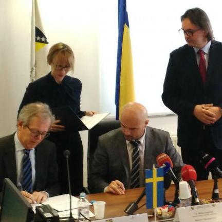 Visoko sudsko i tužilačko vijeće Bosne i Hercegovine (VSTVBiH) nastavilo je saradnju s Ambasadom Švedske u BiH.