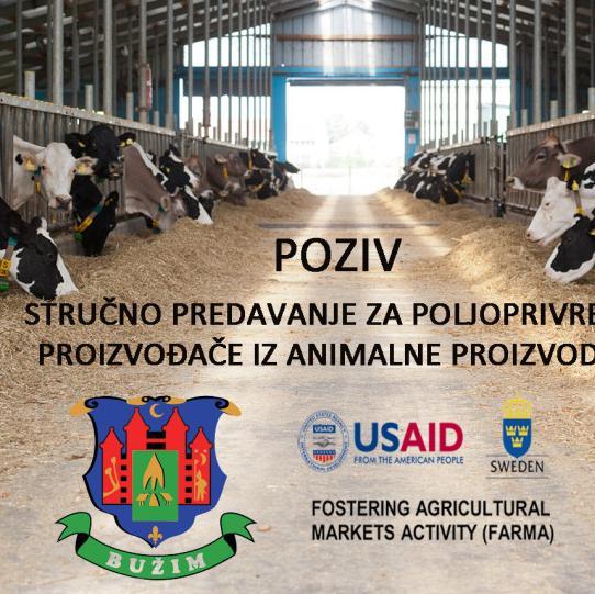 Stručno predavanje za poljoprivredne proizvođače iz animalne proizvodnje