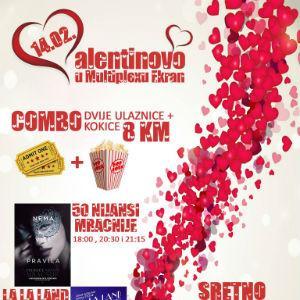 Multiplexu ekran Zenica donosi super provod za Valentinovo. U ponudi je ljubavni kombo paket.