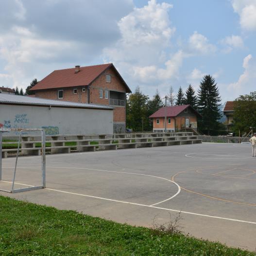 Pri kraju prva faza izgradnje sportskog igrališta u Zabrđu