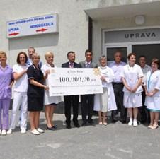 Luka Rajić dodatno donirao 100.000 KM Centru za hemodijalizu Opšte bolnice Konjic