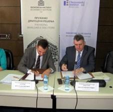 Potpisan Sporazum o poslovnoj saradnji ekonomskih instituta iz Banjaluke i Beograda