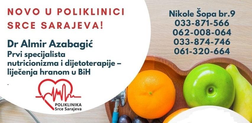 Poliklinika Srce Sarajeva: Pregled vrsnog nutricioniste dr Almira Azabagića