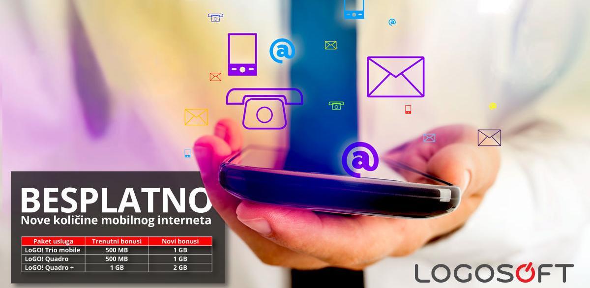 Nove besplatne količine mobilnog interneta u okviru LoGO!