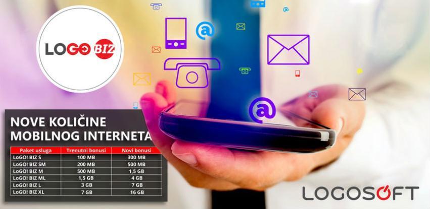 Nove bonus količine mobilnog interneta u LoGO! BIZ paketima