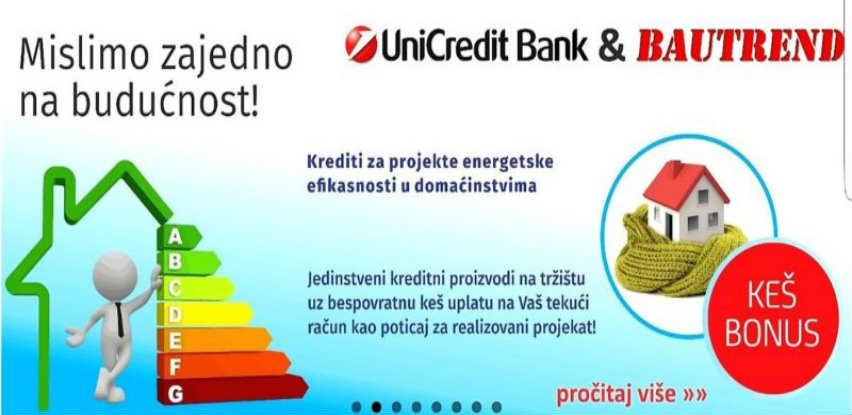 UniCredit & Bautrend grade budućnost u kojoj štede vašu energiju i novac