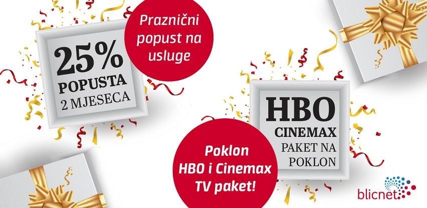 Vrijeme darivanja: Praznični popust i poklon HBO i Cinemax TV paket