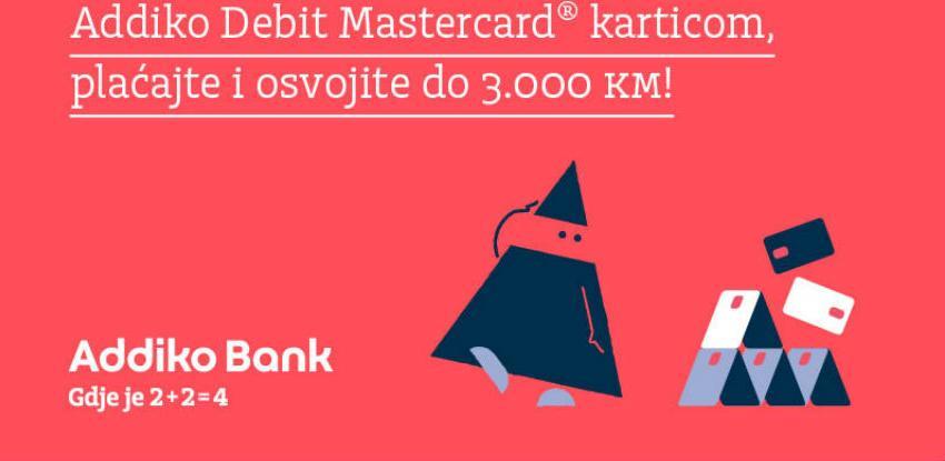 Sa Addiko Mastercard debitnom karticom osvojite do 3000 KM