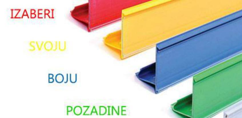 Izaberi svoju boju pozadine cijene sa Sisma uložnim trakama