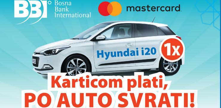 """BBI banka i Mastercard vas nagrađuju: """"Karticom plati, po auto svrati"""""""