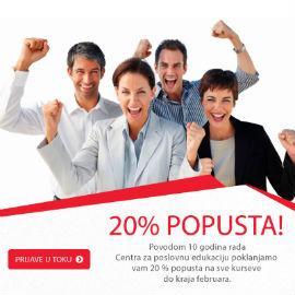CPE - 20% popusta za 10 godina uspješnog rada!