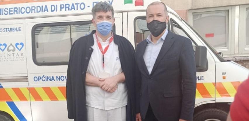 Primopredaja sanitetskog vozila za potrebe Opće bolnice Prim.dr. Abdulah Nakaš