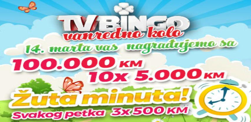 Večerašnje izdanje vanrednog TV Binga uz Jackpot od 1.160.000 KM