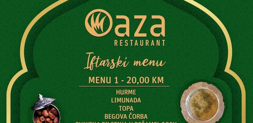 Ukusni iftarski meniji restorana Oaza!