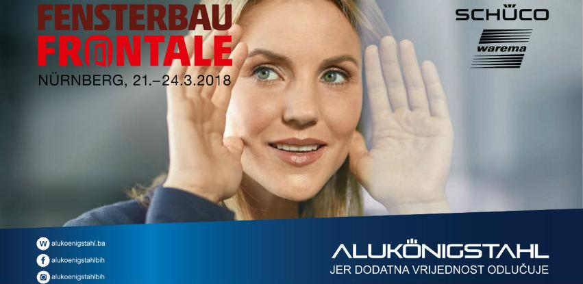 "Alukönigstahl izlaže na sajmu ""Frontale Nürnberg 2018"""
