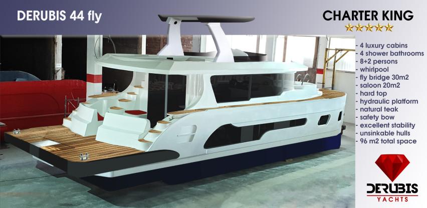 Derubis 44 Fly yachts - Mini hotel na vodi! (Foto + Video)