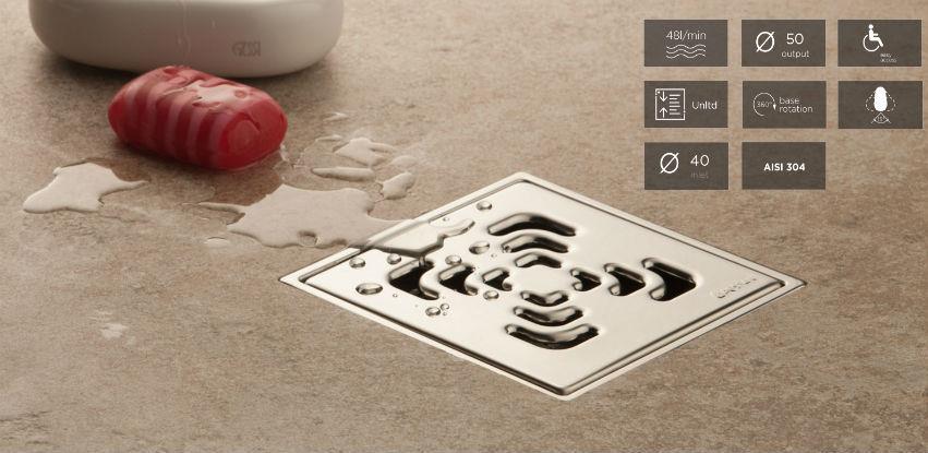 Confluo Standard slivnik je odličan izbor za centralni slivnik u svakom kupatilu