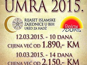Relax Tours i Rijaset Islamske zajednice u BiH Vas vode na Umru