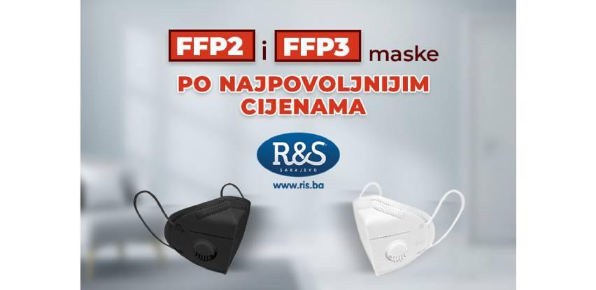 Najpovoljnije FFP2 i FFP3 maske pronađite u ponudi kompanije R&S Sarajevo