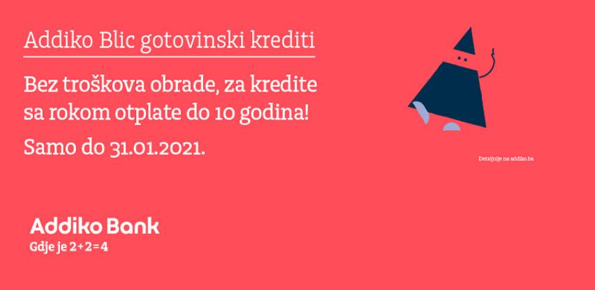 Addiko gotovinski krediti bez troškova obrade i u januaru 2021.