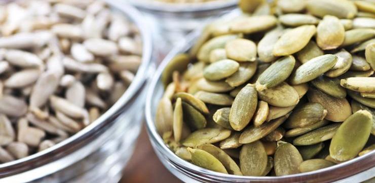 Miks oljuštenih sjemenki bundeve i suncokreta