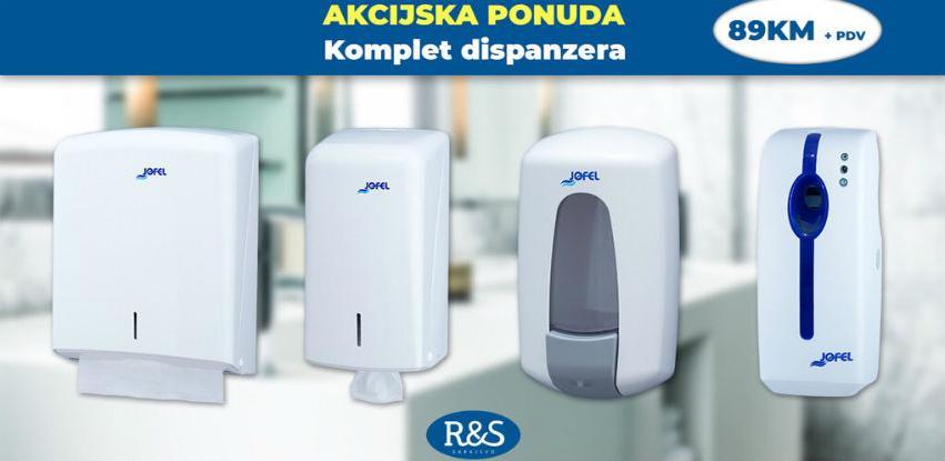 AKCIJA - komplet dispenzera za WC + prvo punjenje gratis