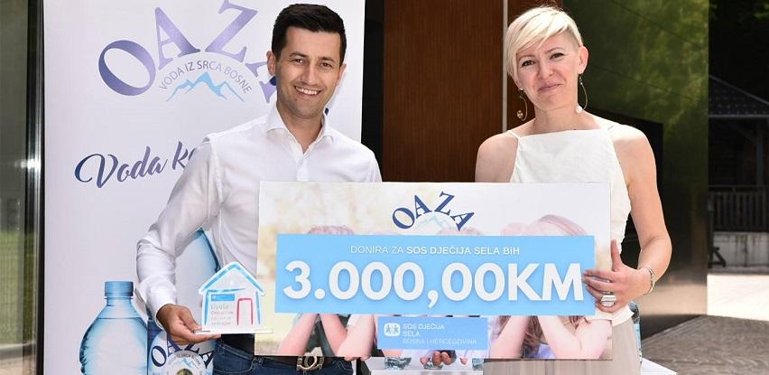 Kompanija Oaza donirala 3.000 KM SOS Dječijim selima BiH