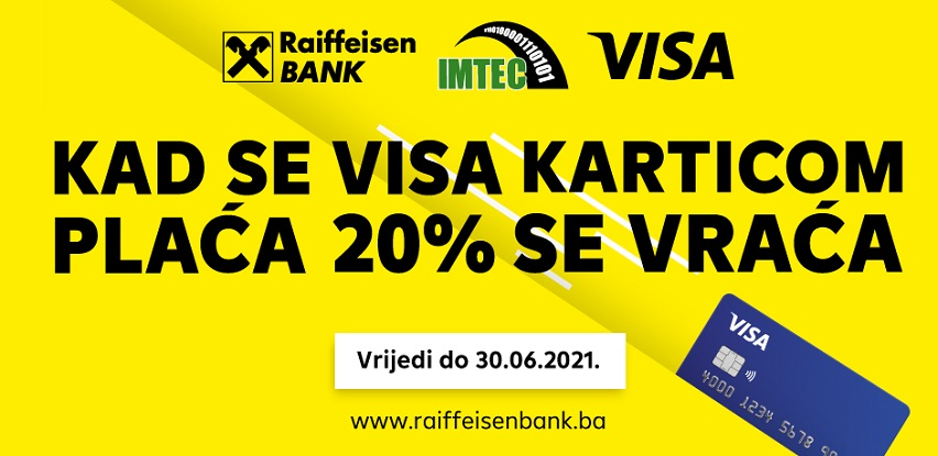 Imtec I Raiffeisen banka: 20% na kompletan asortiman