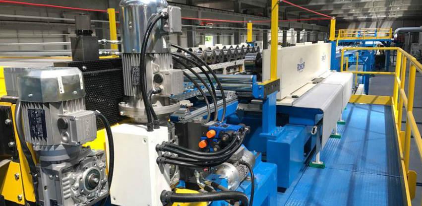 Testiranje nove linije za proizvodnju termoizolacionih panela