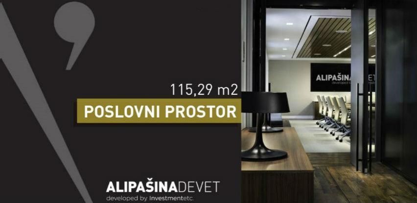 Alipašina 9 predstavlja poslovni prostor u centru Sarajeva