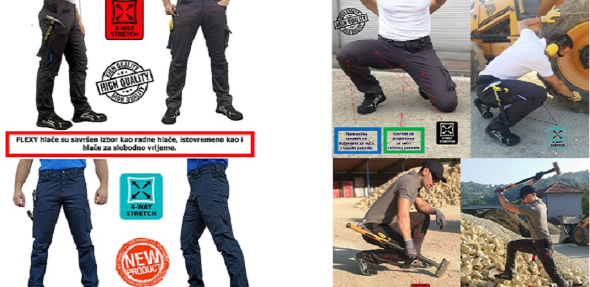 FLEXY radne i outdoor hlače