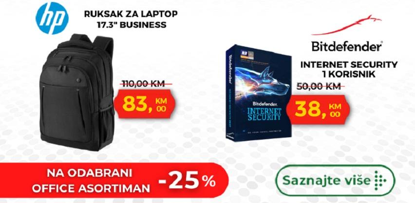 25% na odabrane laptope, torbe za laptope i antiviruse