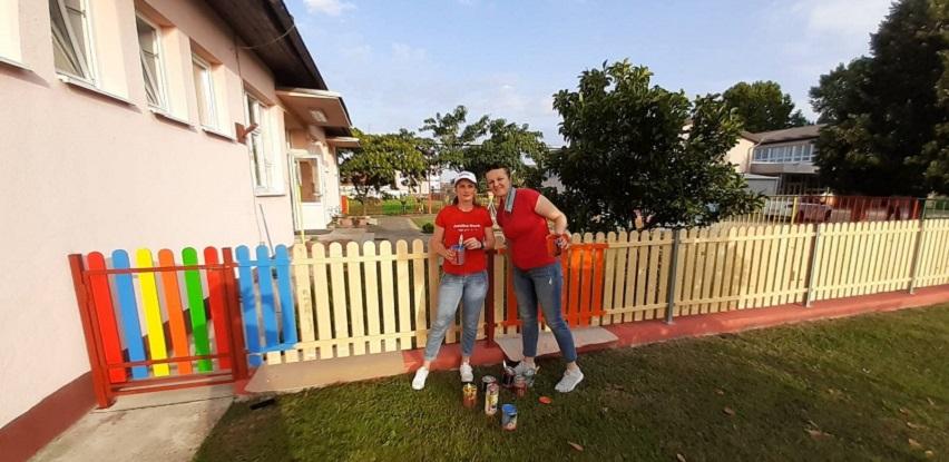 Addiko Cares u Orašju - uređenje dvorišta za najmlađe korisnike
