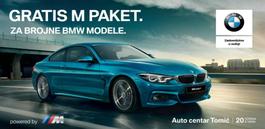 Auto centar Tomić: Gratis M paket za brojne BMW modele